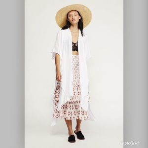 Free People Angelica High/Low Kimono Size XS/S